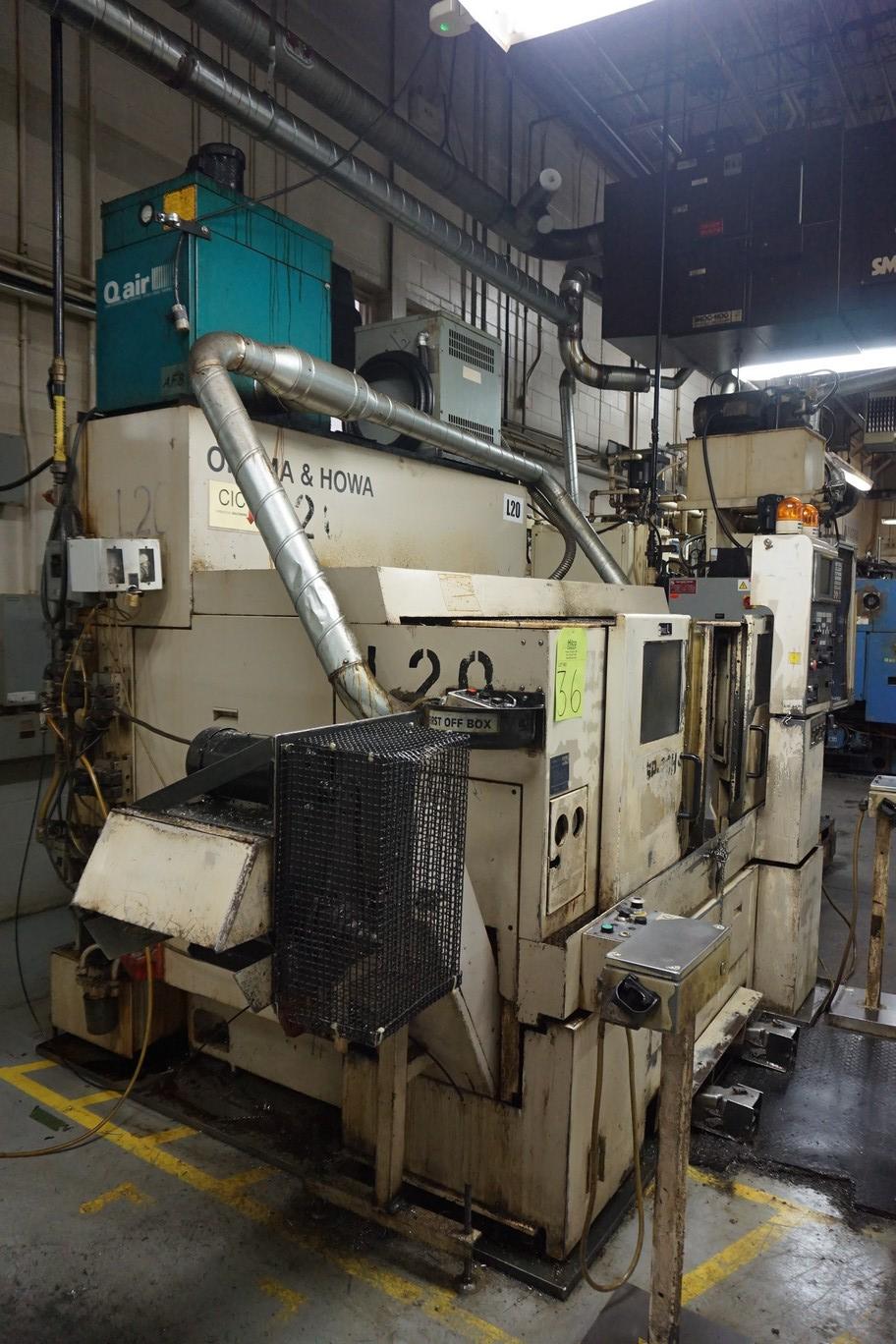 Okuma-Howa Model 2SP-20H CNC Lathe, c/w Fanuc Series 18-TT Controller, Chip Conveyor, Transformer - Image 5 of 7