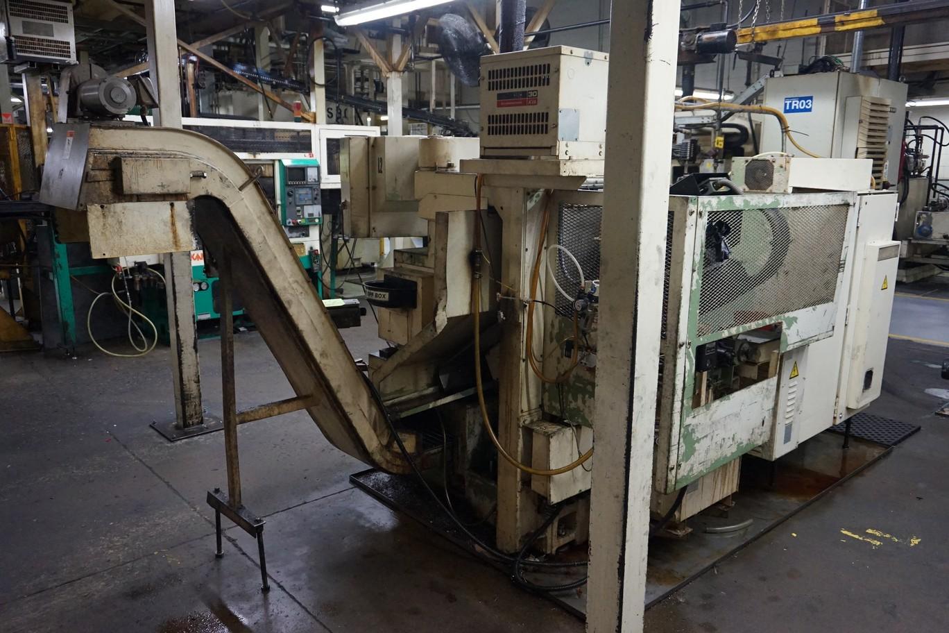 Okuma Model LB15 CNC Lathe 220/440V c/w Chip Conveyor, Transformer - Image 3 of 4