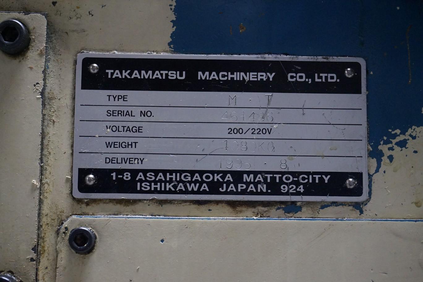 Takamatsu Model MT CNC Lathe 200/220V c/w Transformer (L66) - Image 5 of 7