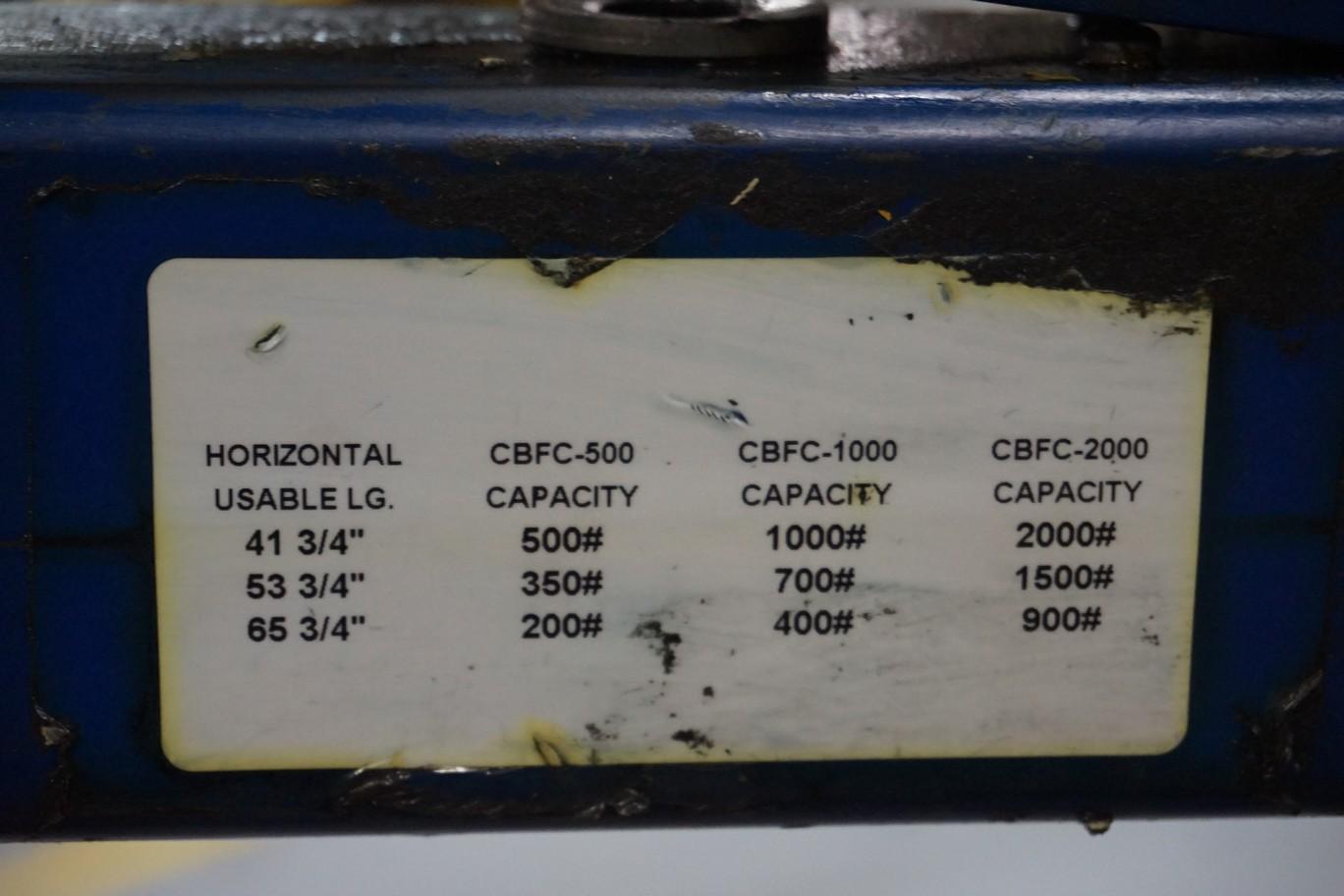 Vestil Model CBF0-500 500-Lbs Capacity Hydraulic Engine Hoist - Image 4 of 4