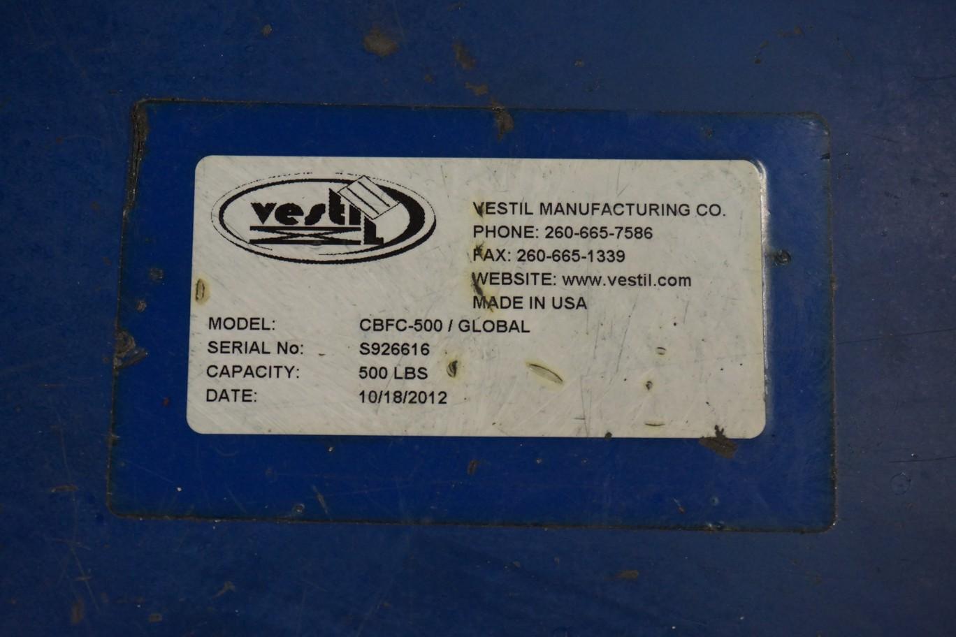 Vestil Model CBF0-500 500-Lbs Capacity Hydraulic Engine Hoist - Image 2 of 4