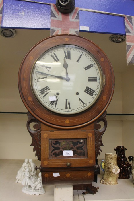 Lot 4004 - Late 19th Century mahogany wall clock