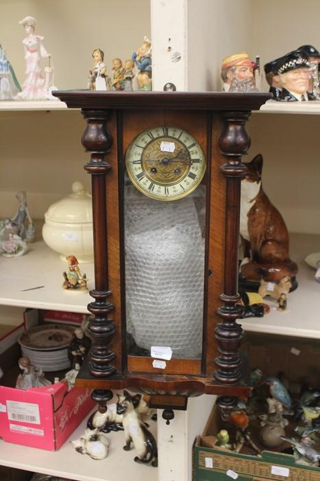 Lot 4010 - Late Victorian Germany mahogany wall clock