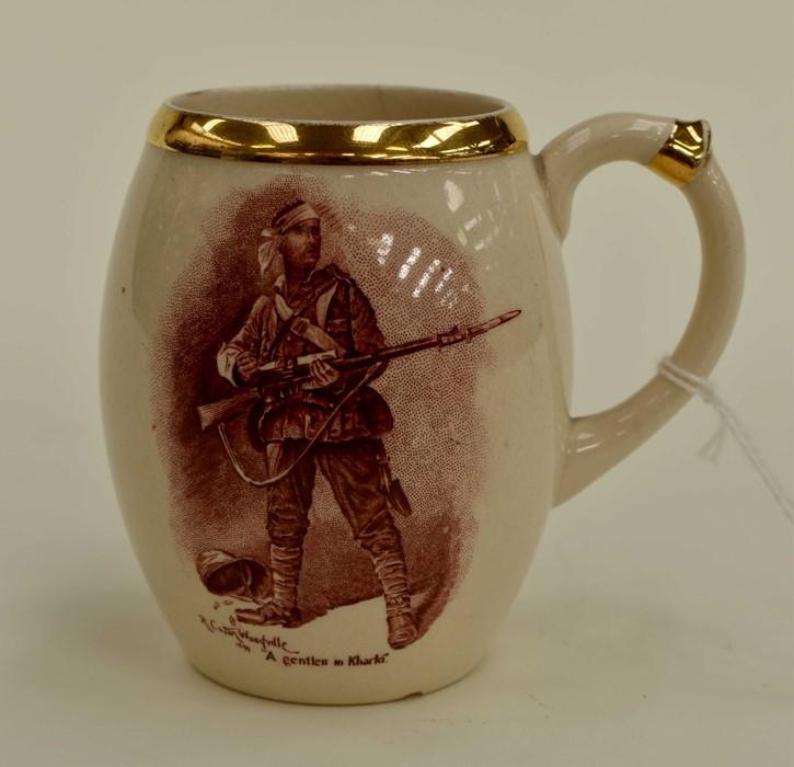 Lot 1016 - Absent Minded Beggar, early 20th Century cup/mug, Burslem