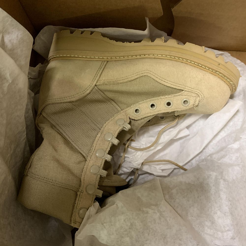 8 Pairs of Corcoran Desert Combat Boots, Tan 4380, and Sage 8700, Various Sizes, Retail $400++ - Image 4 of 4