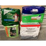 4 New Packs of Adult & Children's Underwear & Diapers: Depends, Prevail, Seventh Generation, &