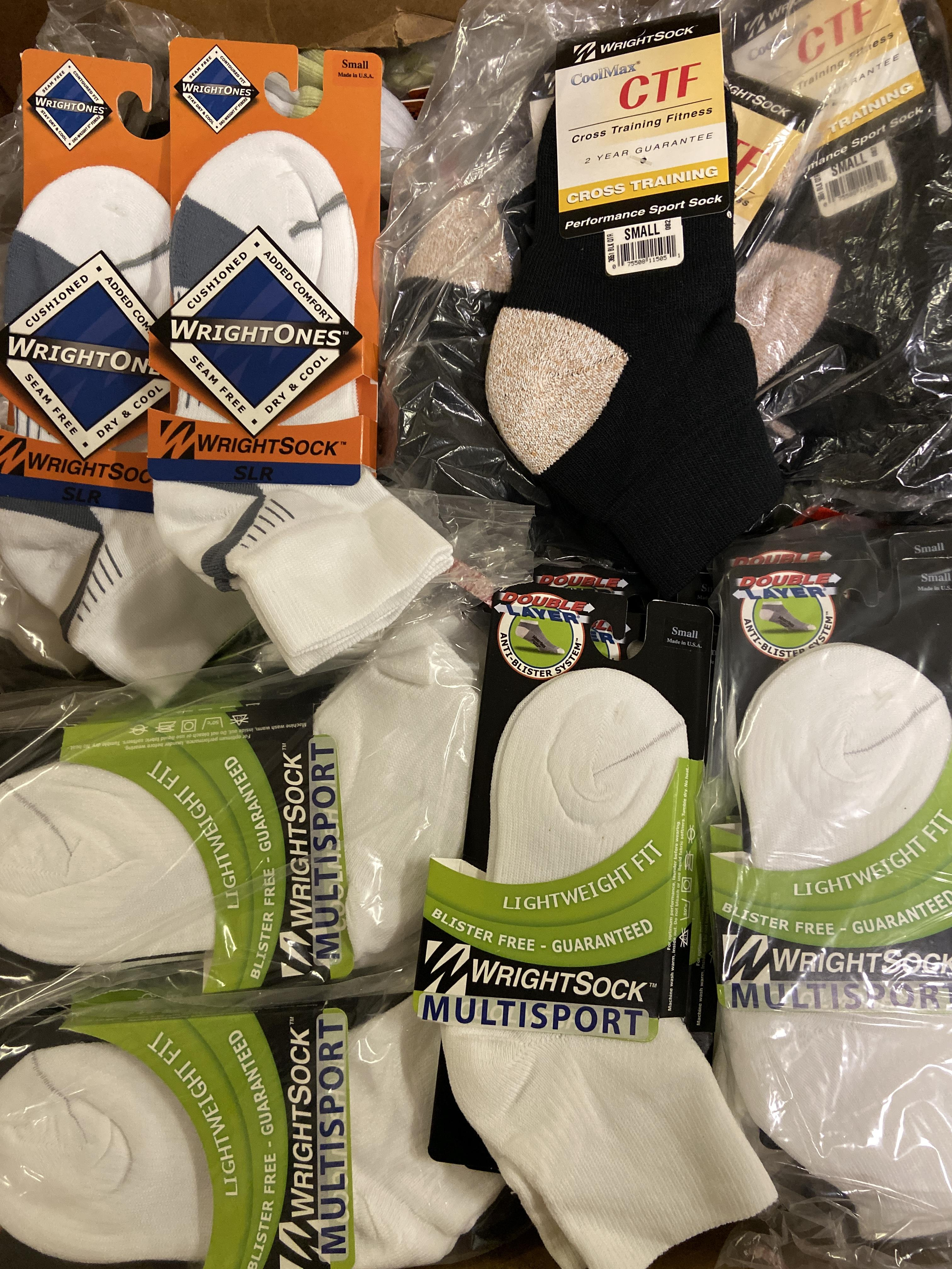250+ packs of New Socks, Wrightsock Various Styles, Various Colors - Image 2 of 3