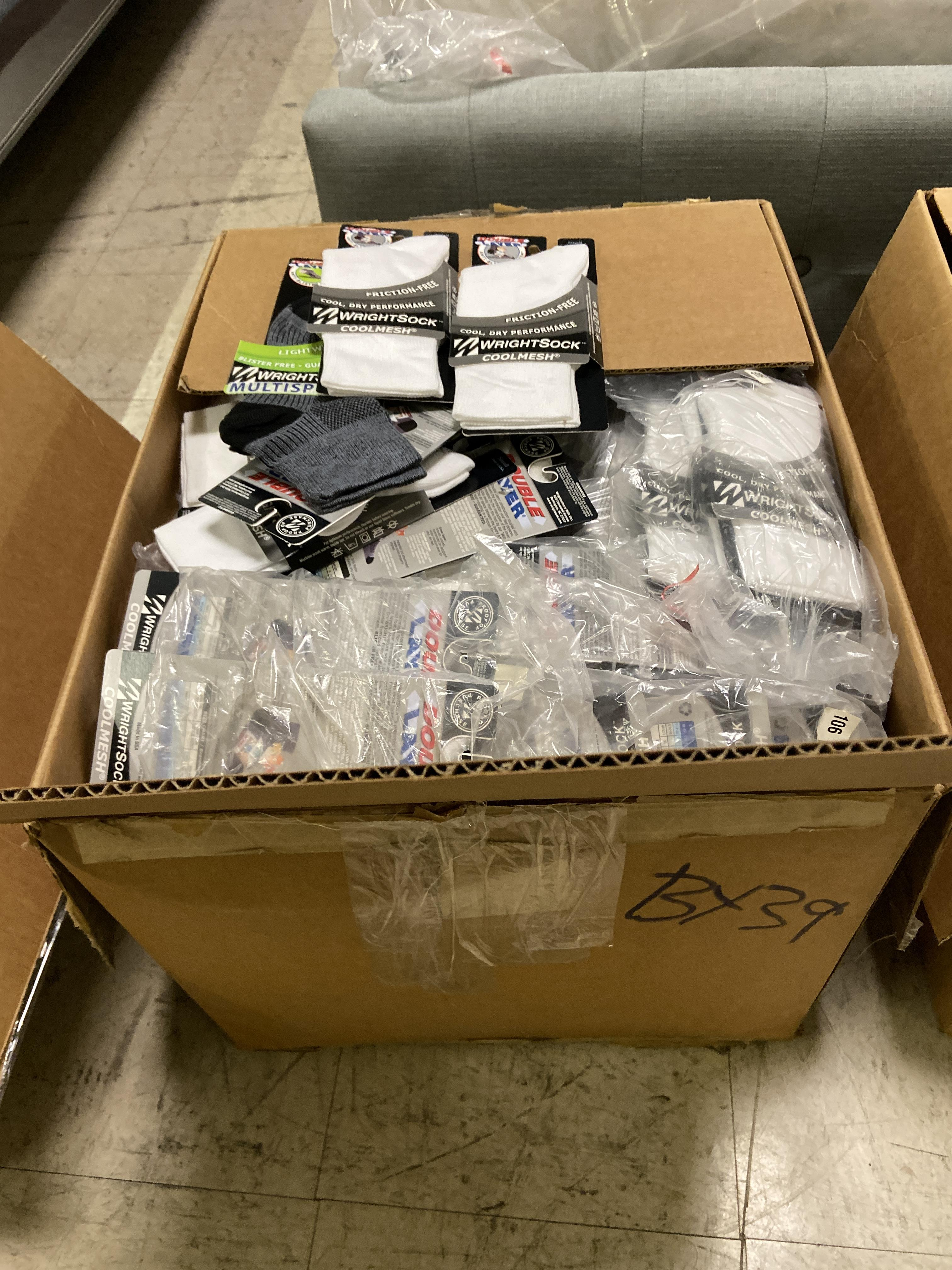 250+ packs of New Socks, Wrightsocks Coolmesh and Multisport, Various Colors