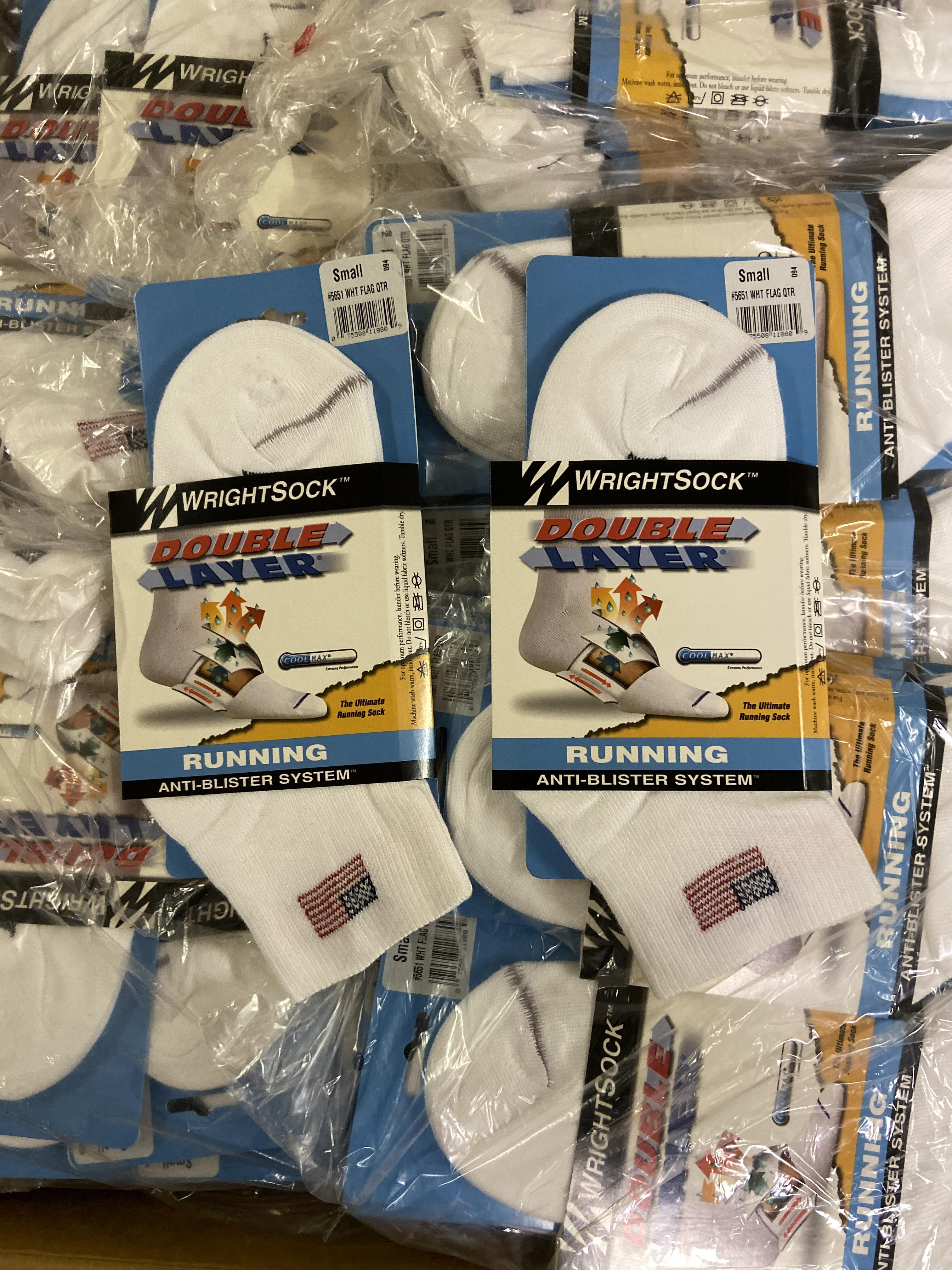 250+ packs of New Socks, American Flag USA Wrightsock Running , Double Layer - Image 2 of 3