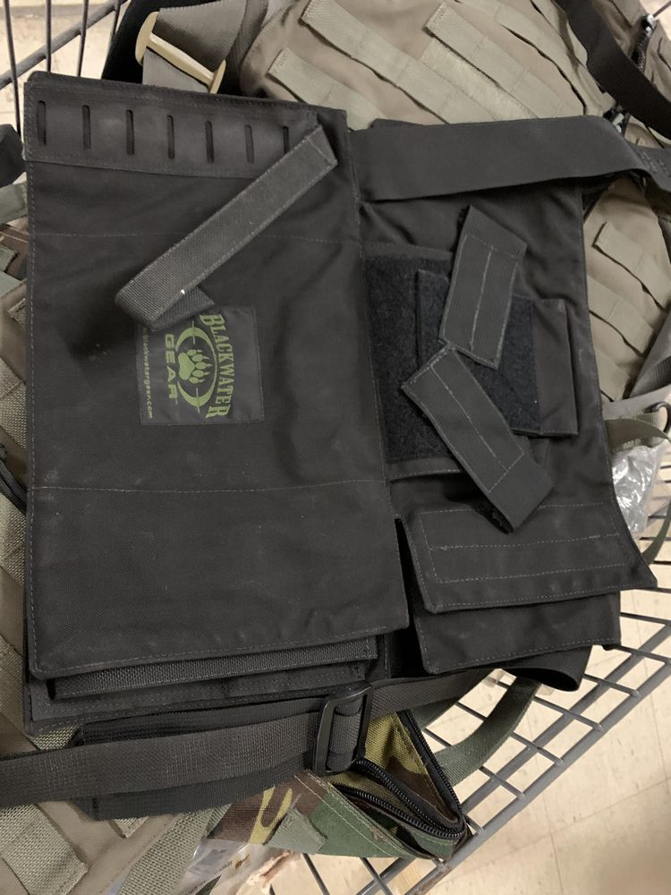 16 Misc Blackwater Gear Tactical Firearm Vests and Accessories - Image 5 of 6
