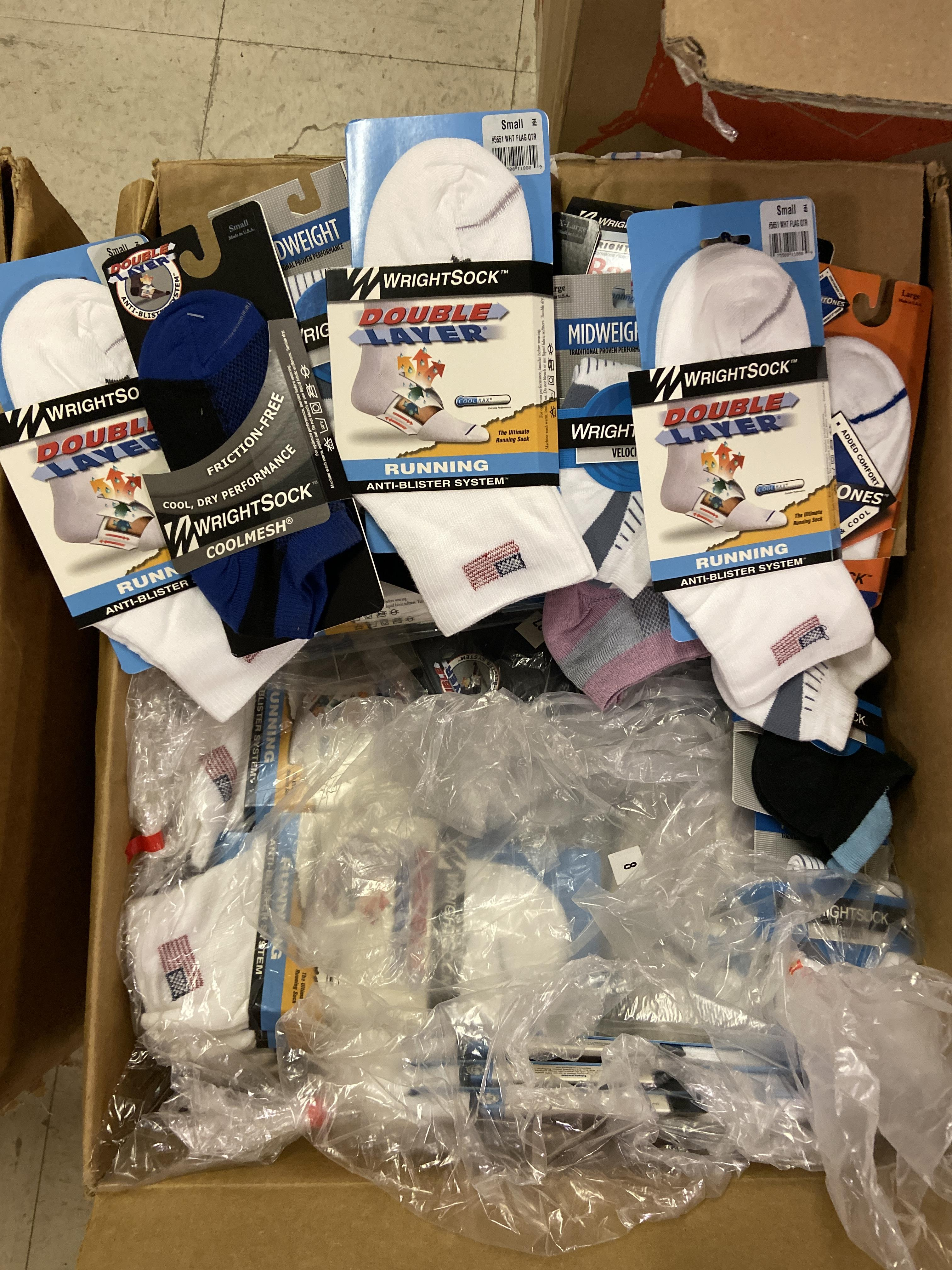 500+ packs of New Socks, Wrightsocks Various Styles, Various Colors - Image 2 of 5