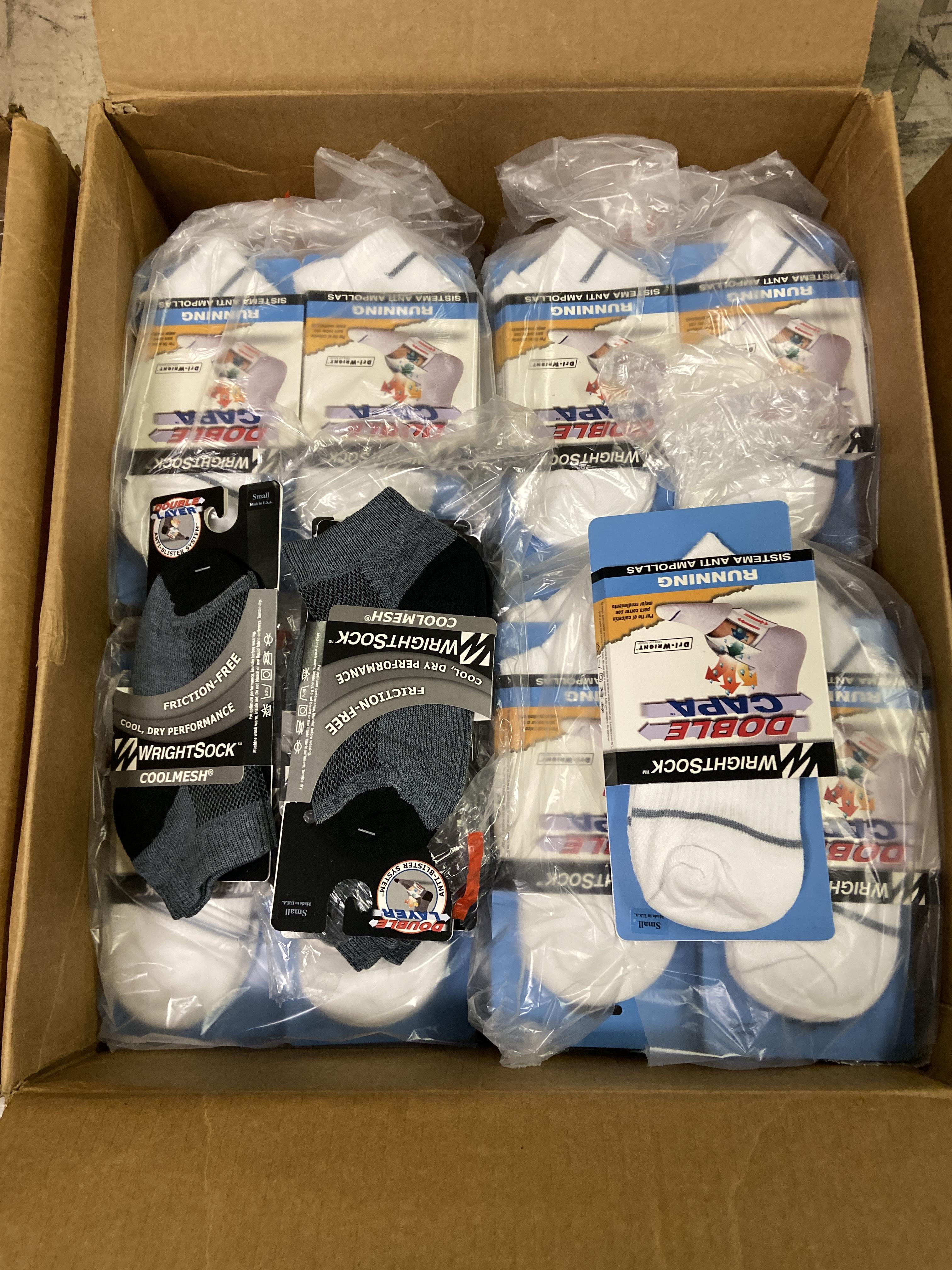500+ packs of New Socks, Wrightsock Various Styles, Double Layer, Various Colors White/Black/Etc - Image 2 of 7