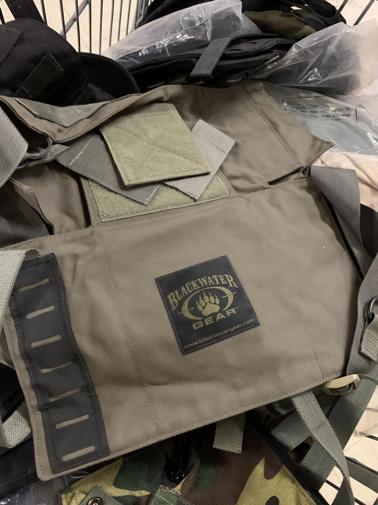 16 Misc Blackwater Gear Tactical Firearm Vests and Accessories - Image 2 of 6