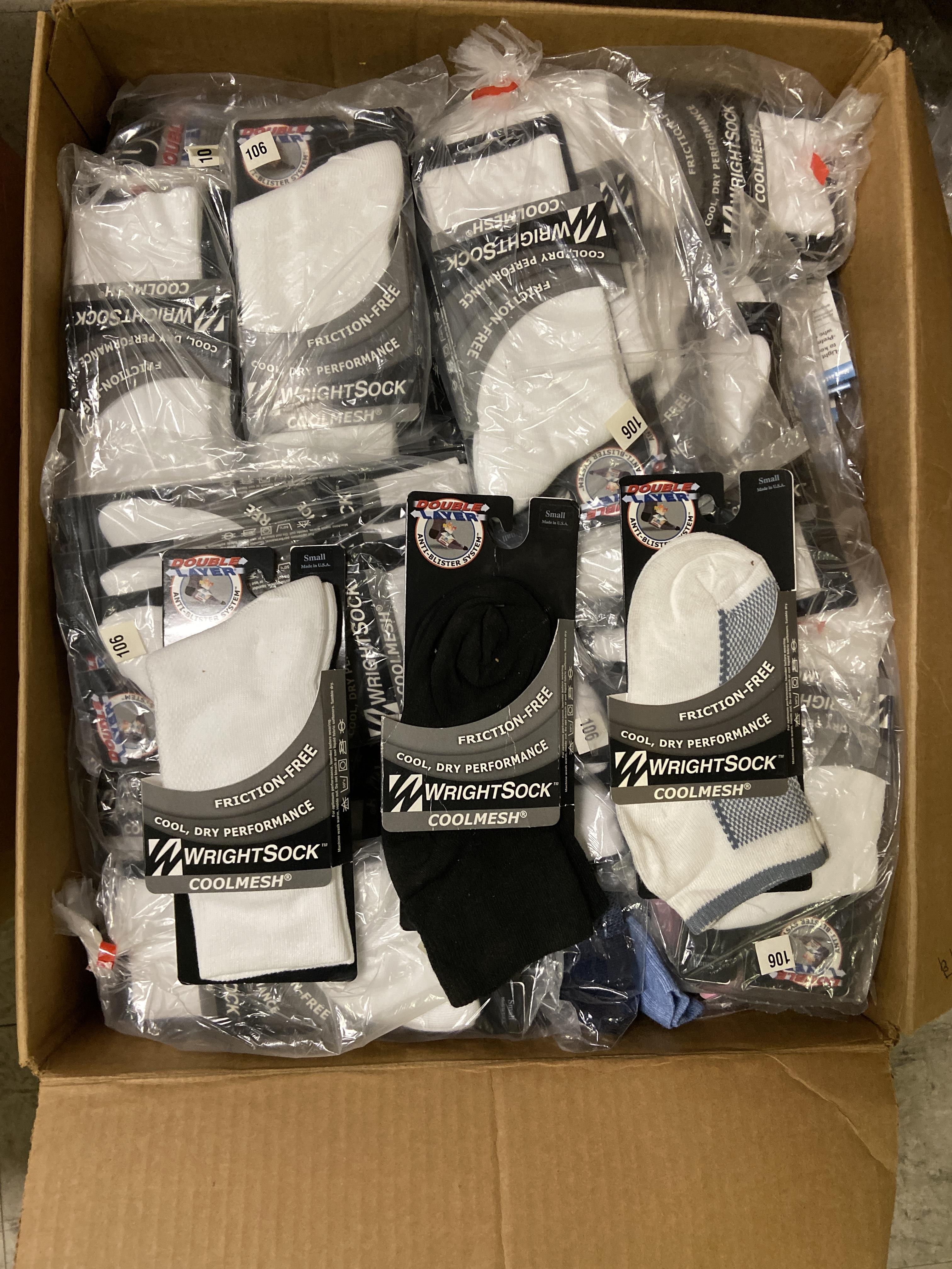 500+ packs of New Socks, Wrightsocks Various Styles, Various Colors and Styles - Image 5 of 6