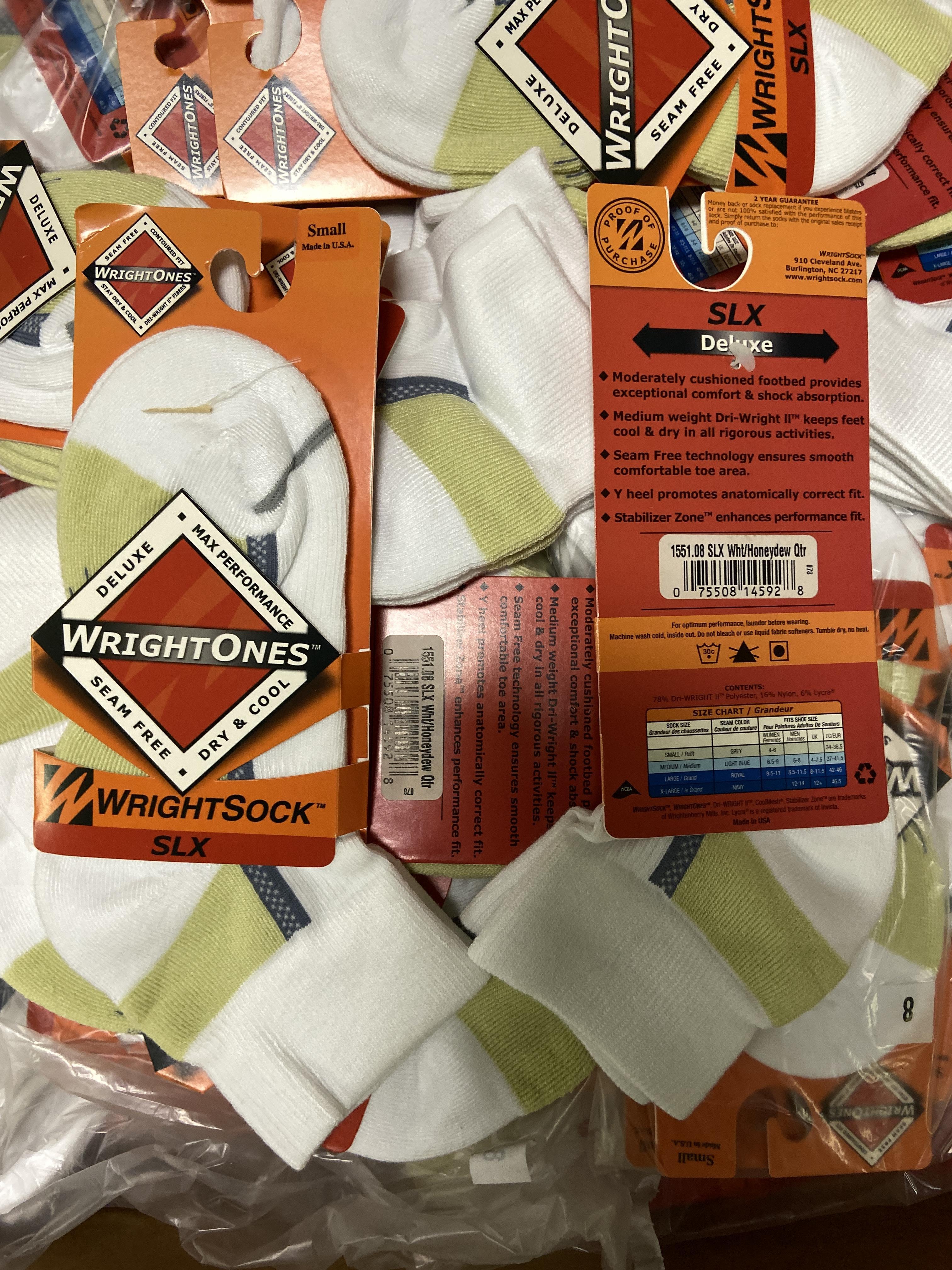 500+ packs of New Socks, Wrightsocks Coolmesh and WrightOnes SLX, Various White Styles - Image 6 of 6