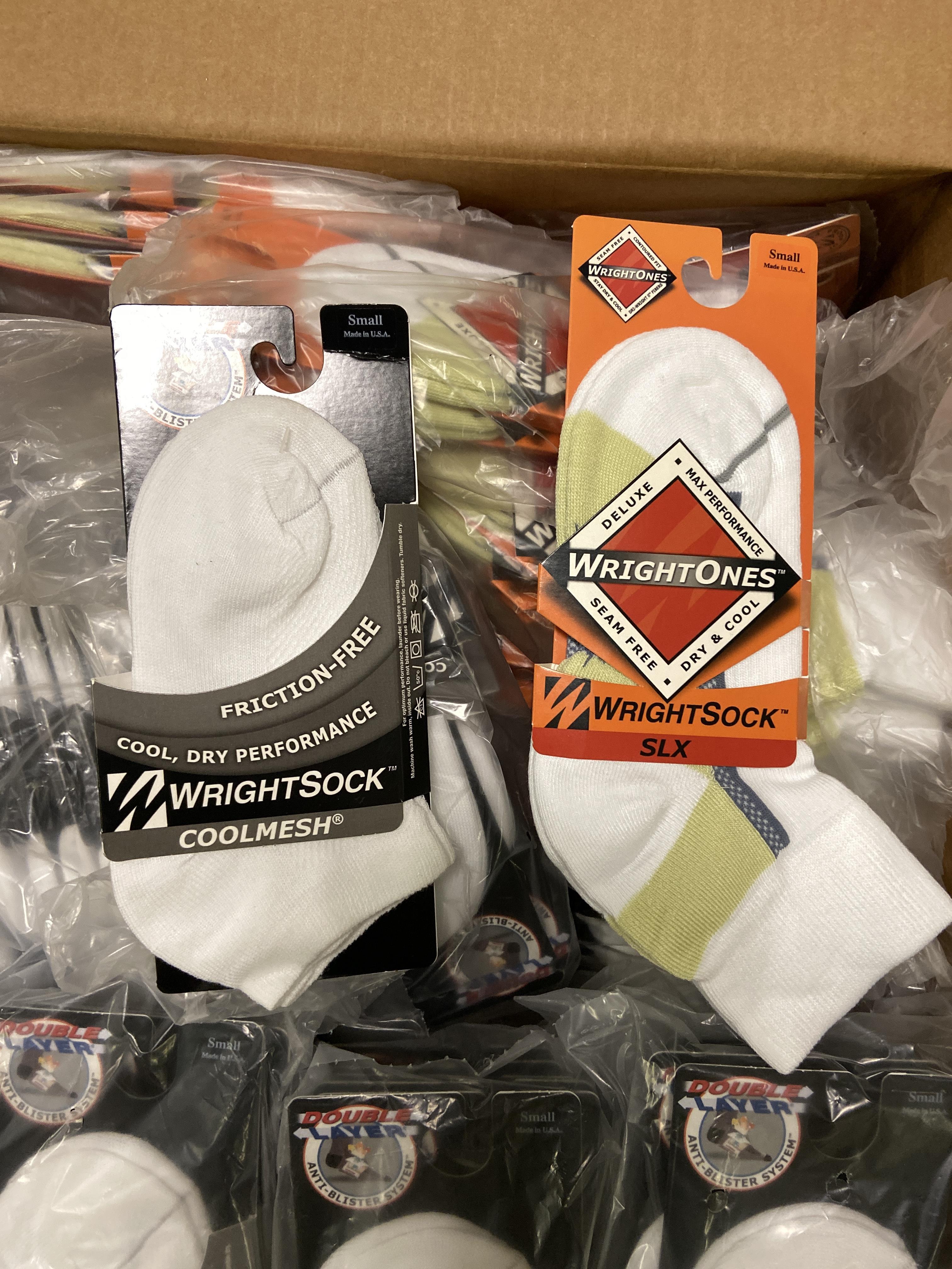500+ packs of New Socks, Wrightsocks Coolmesh and WrightOnes SLX, Various White Styles - Image 4 of 6