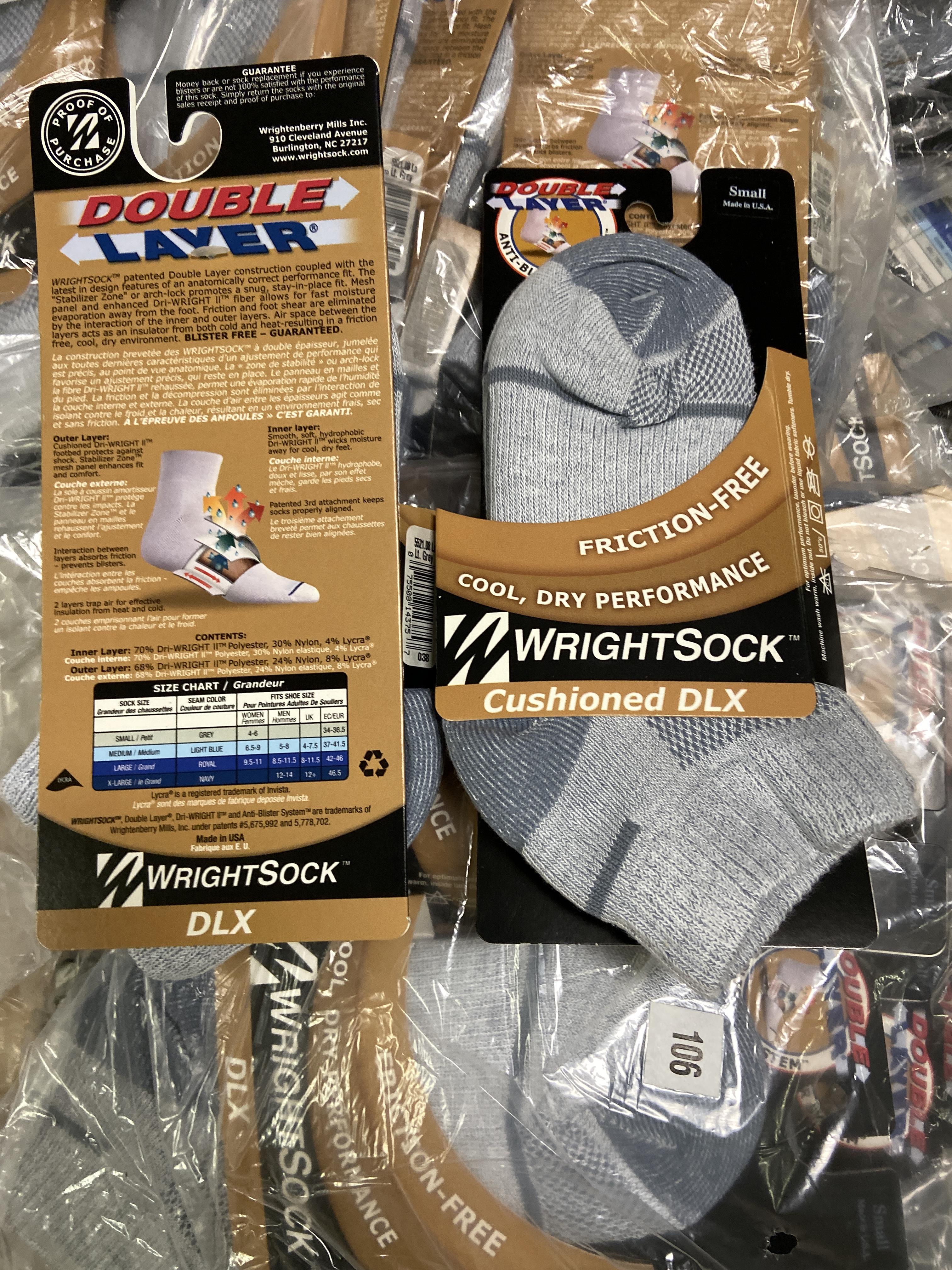 250+ packs of New Socks, Wrightsocks Cushioned DLX, Gray - Image 2 of 2