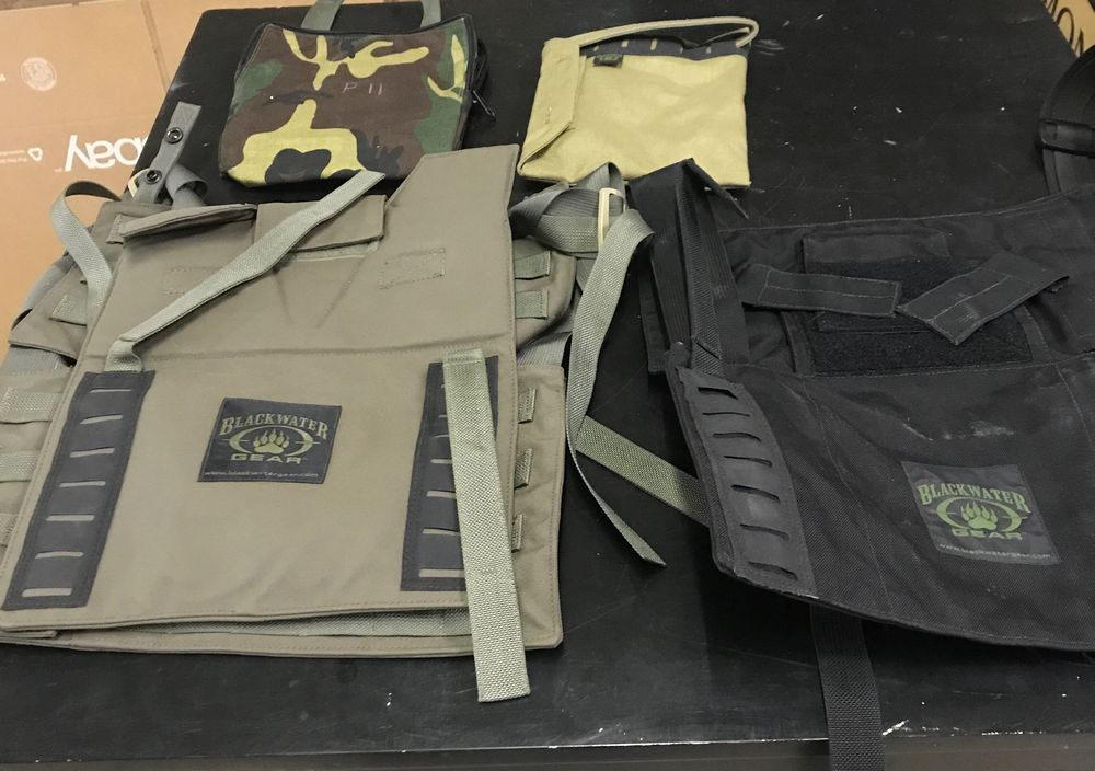 16 Misc Blackwater Gear Tactical Firearm Vests and Accessories