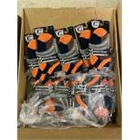 250+ packs of New Socks, Wrightsock Coolmesh, Double Layer, Orange/Black