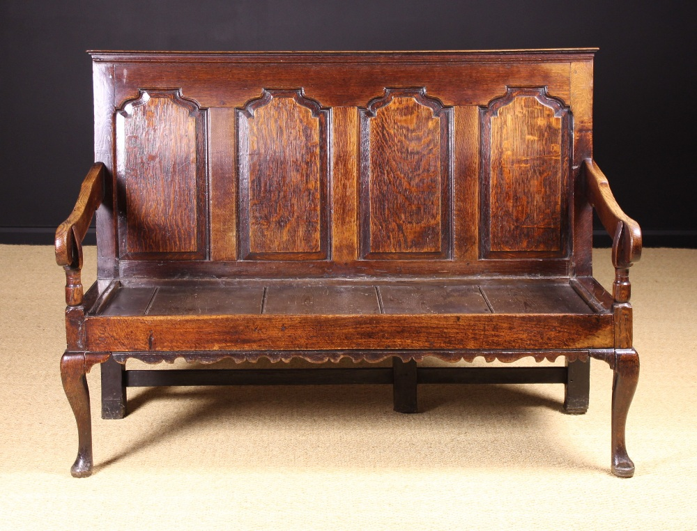 Lot 51 - A Fine 18th Century English Joined Oak Settle, Circa 1720,