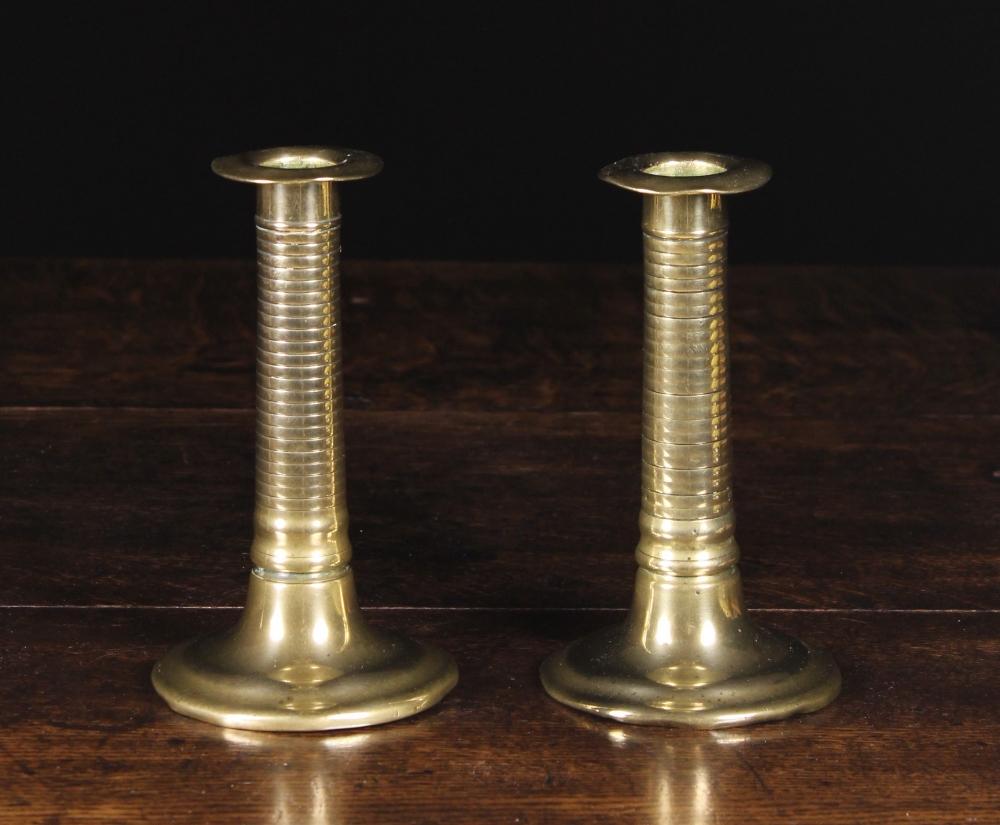 Lot 40 - A Pair of 19th Century Brass Candlesticks.