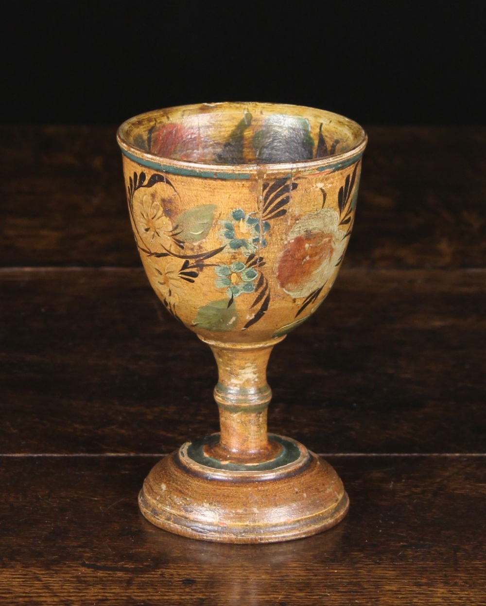 Lot 26 - A Charming 19th Century Turned Treen Goblet Circa 1830, possibly American.