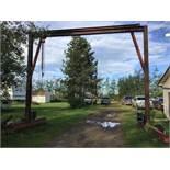 16Ft Overhead Hoist w/Big Red 9000lb Chain Hoist Selling for Anton Driedger
