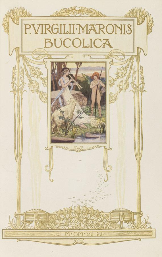 Lot 163 - Publius Vergilius Maro Les Eglogues. Paris, Plon & Nourrit 1906. Vergils berühmte Hirtengedichte