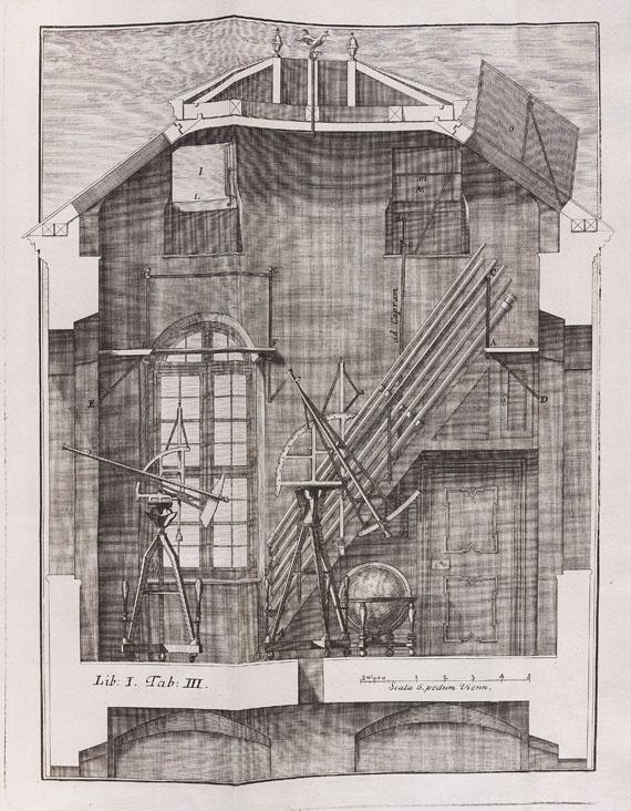 Lot 19 - Johann Jakob Marinoni De astronomica specula domestica et organico apparatu astronomico libri duo.