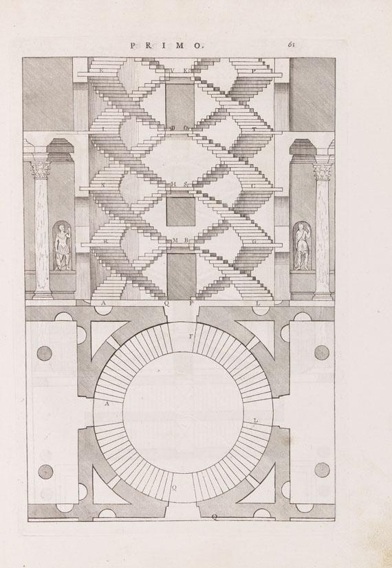 Lot 41 - Andrea Palladio I quattro libri dell'architettura. 4 Teile in 1 Band. Venedig, D. de Franceschi 1570