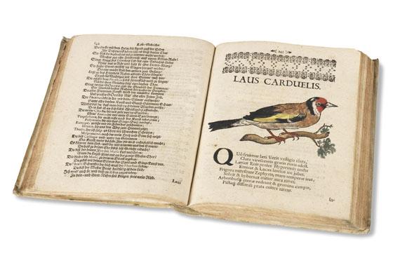 Lot 27 - Nikolaus Baer Ornithophonia sive harmonia melicarum avium. Bremen, J. Wessel 1695. Über die