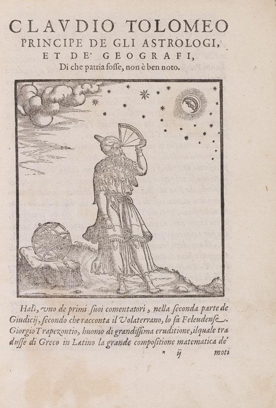 Lot 36 - Claudius Ptolemaeus La geografia. Tradotta di Greco in Italiano da G. Ruscelli: & hora in questa