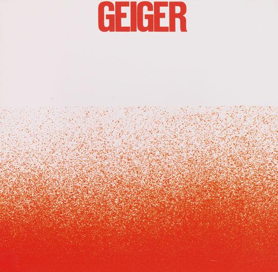 Lot 102 - Rupprecht Geiger All die roten Farben. Alles was da Rot ist. Ein sehr rotes Buch. Duisburg, G.