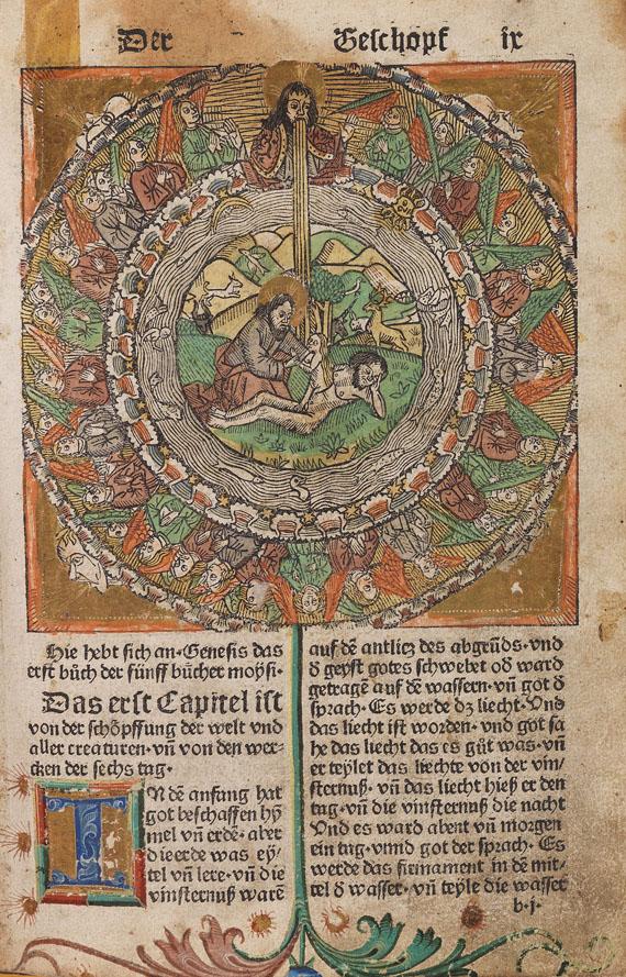 Lot 10 - Biblia germanica Der erste teyl der Bibel (Altes Testament). [Augsburg, J. Schönsperger, 9. Nov.
