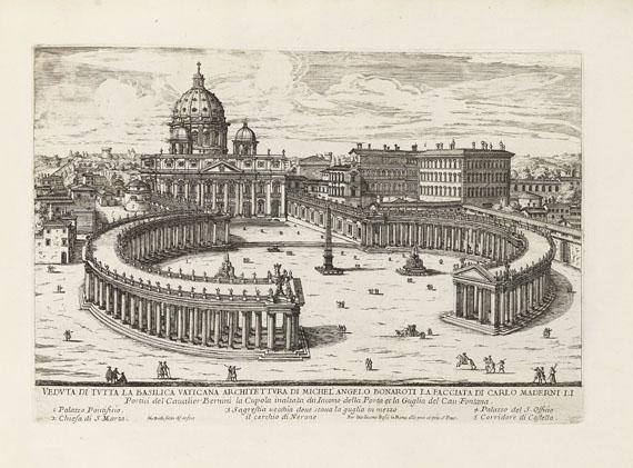 Lot 43 - Giovanni Battista Falda Il nuovo teatro delle fabriche, et edificii, in prospettiva di Roma moderna.