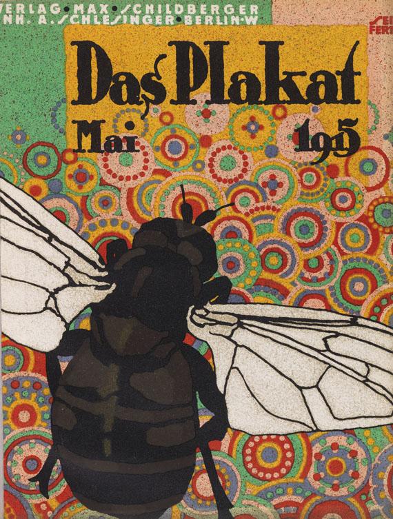 Lot 73 - Das Plakat Mitteilungen (später: Zeitschrift) des Vereins für Plakatfreunde e. V. für Kunst und