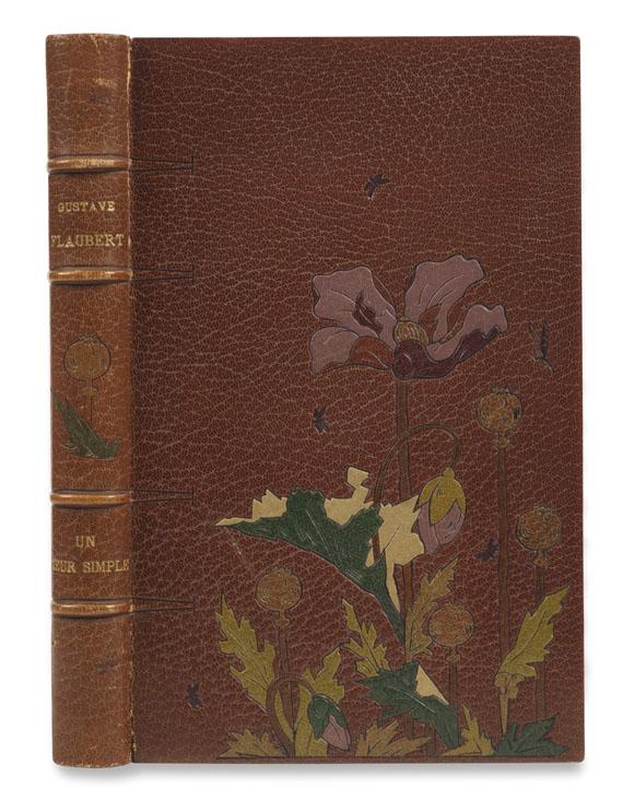 Lot 153 - Gustave Flaubert Un coeur simple. Paris, A. Ferroud 1894. Flauberts beliebte Erzählung in einer