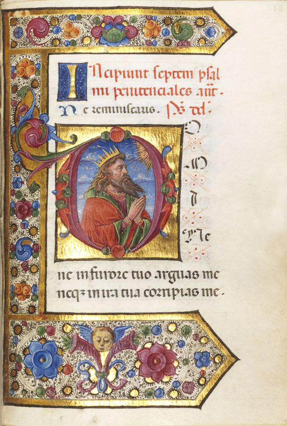 Lot 4 - Stundenbuch Lateinisches Stundenbuch für den Gebrauch von Rom. Oberitalien (Lombardei), um 1490.