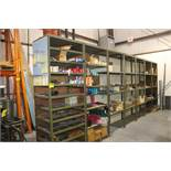 "(7) SECTIONS OF HEAVY DUTY ADJUSTABLE STEEL SHELVING 37""X25""X96"""