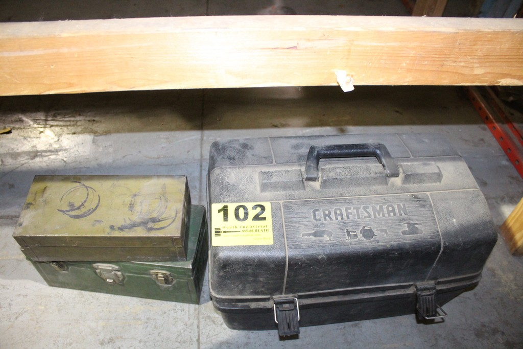 (3) ASSORTED CONTAINERS TOOLBOXES AND CASE