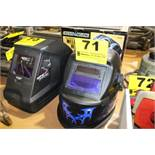 CHICAGO ELECTRIC AUTO DARKENING WELDING MASK WITH BLUE FLAMES