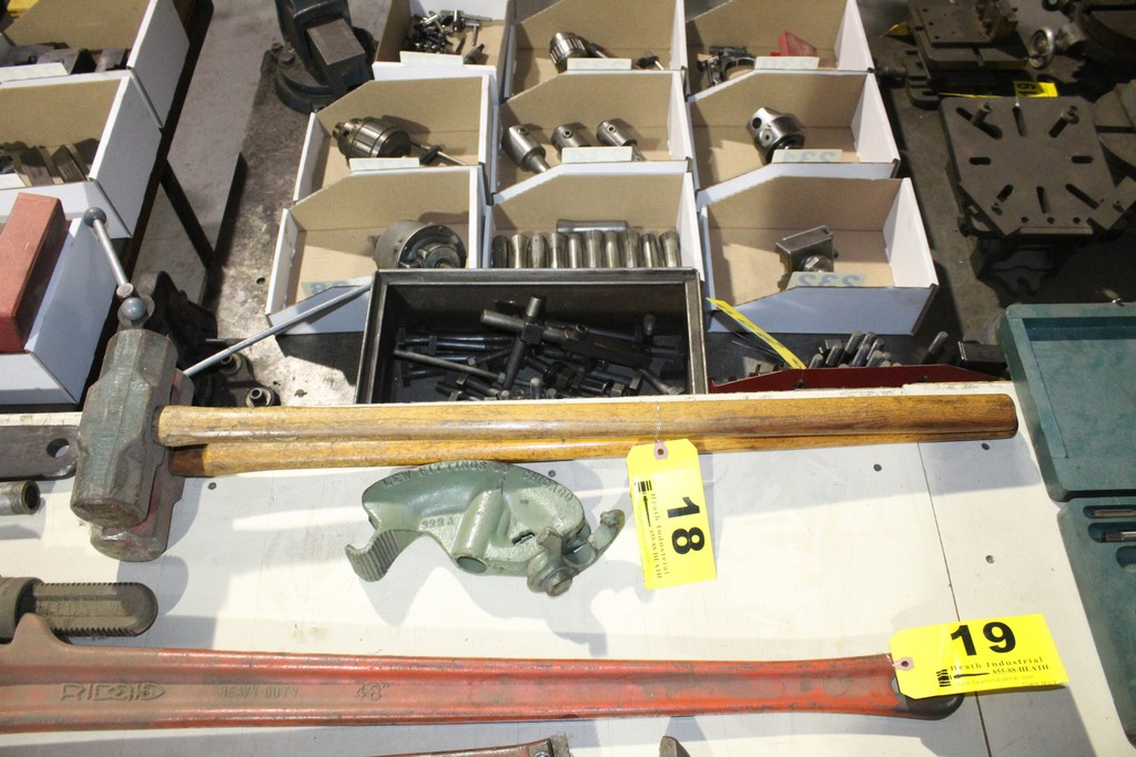 Lot 18 - (2) ASSORTED SLEDGE HAMMERS AND CONDUIT BENDER HEAD
