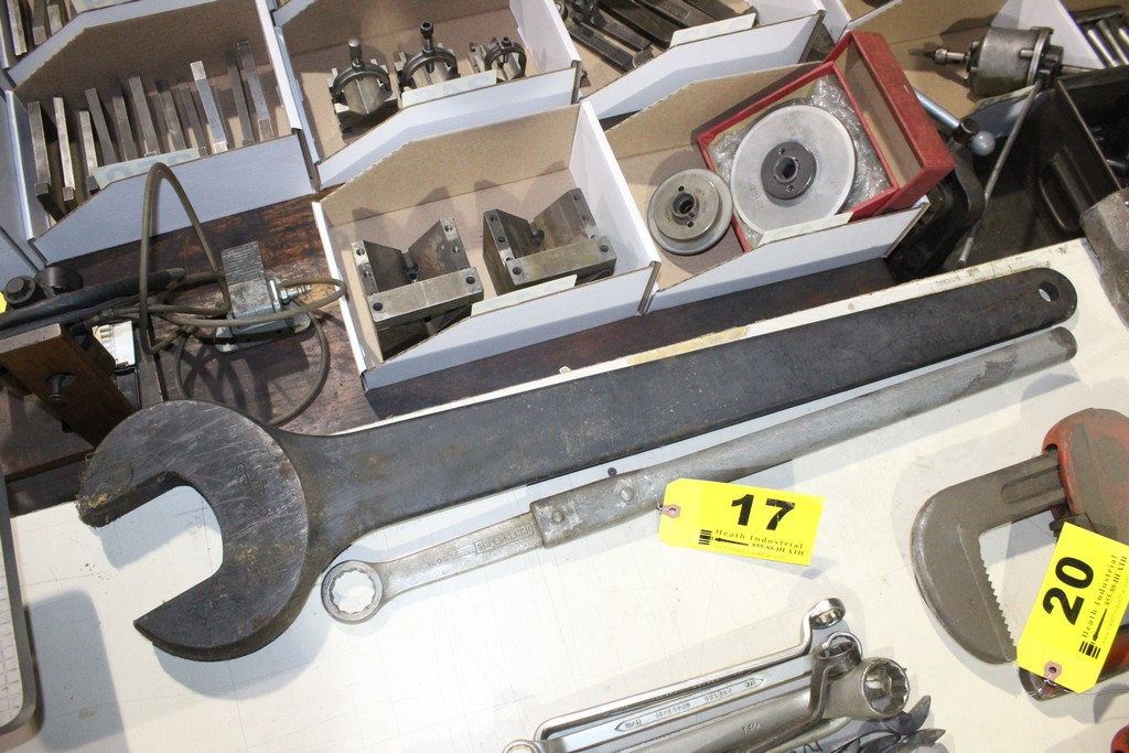 (2) LARGE MACHINE WRENCHES