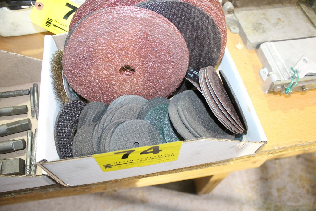 "LARGE QUANTITY OF ABRASIVE DISKS AND 3"" CUT OFF WHEELS"