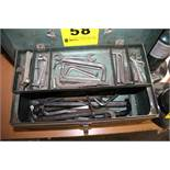 "16"" WARDS TOOLBOX WITH ASSORTED ALLEN WRENCHES"