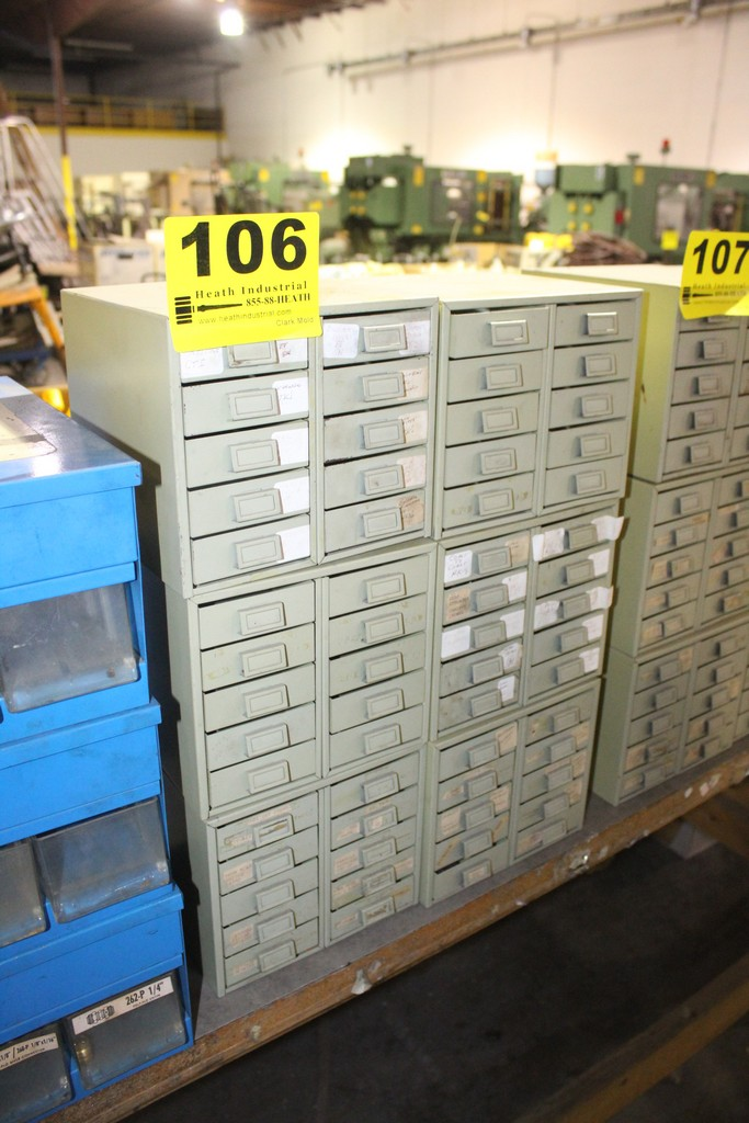 (6) 10 DRAWER SMALL PARTS CABINETS