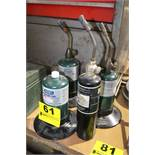ASSORTED COLEMAN TORCHES AND PROPANE