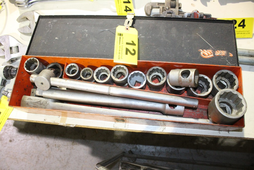 """WILLIAMS 1"""" SOCKET SET WITH RACHET, BREAKER BAR AND EXTENSION"""