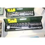 "SK TOOLS 1/2"" SOCKET SET WITH RACHET, BREAKER BAR AND EXTENSION"