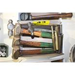 (5) ASSORTED HAMMERS AND BRASS PUNCHES